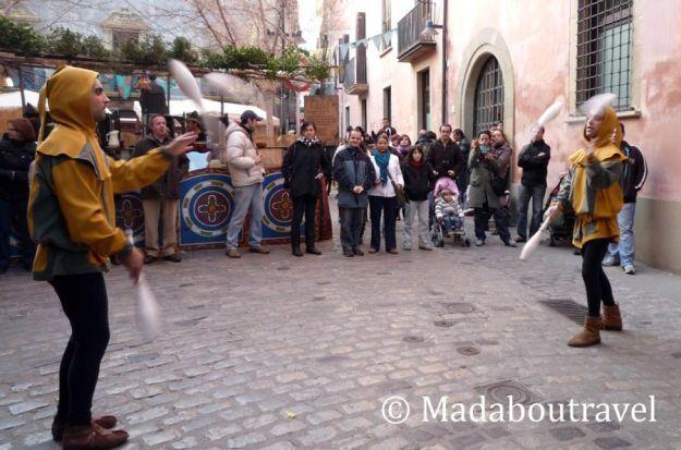 Juglares en el Mercat Medieval de Vic