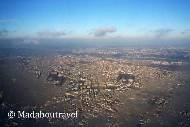 Viena desde el avión