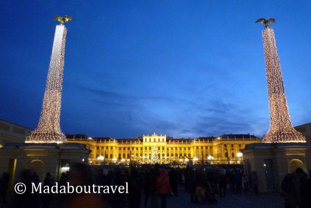Mercado de Navidad en el palacio de Schonbrunn