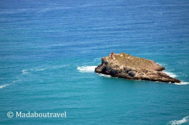 El mar Mediterráneo visto desde Dalt Vila, en Ibiza
