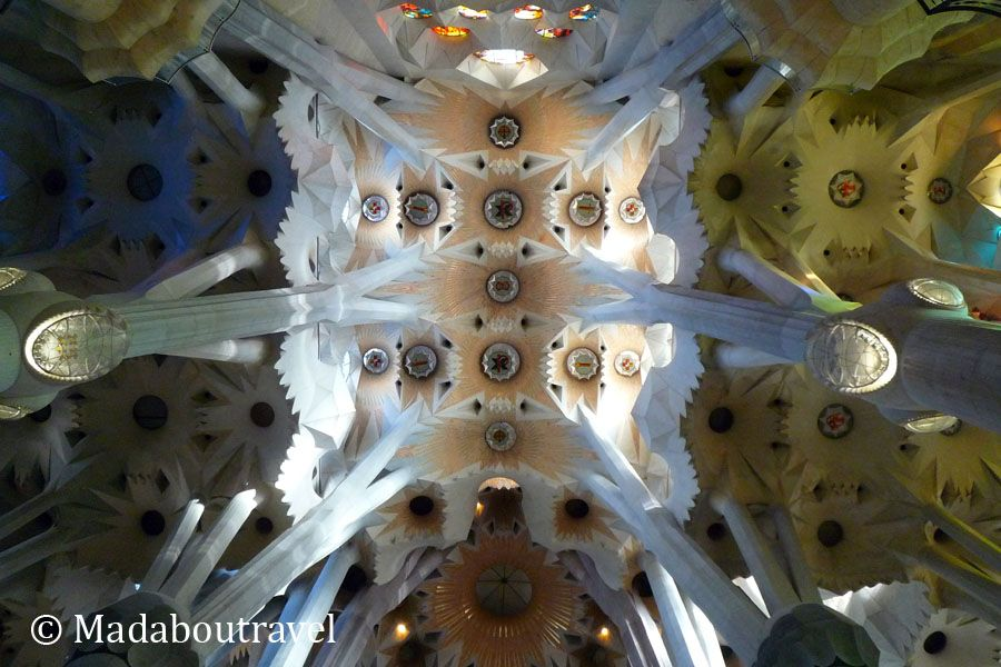Techo de la nave central de la Sagrada Familia