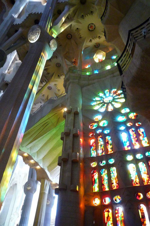 Colores en las vidrieras de la Sagrada Familia