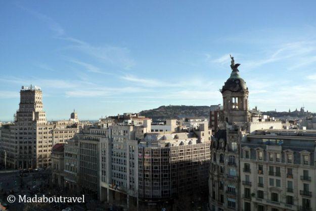 Vistas desde la terraza del hotel mandarin oriental de barcelona