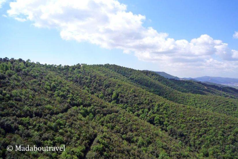 Serra de Sant Mateu, en la Serralada Litoral