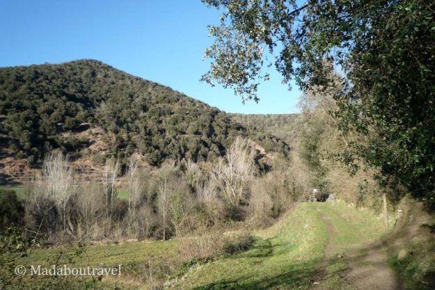 Camino al Boscarró en la ruta de las tres coladas