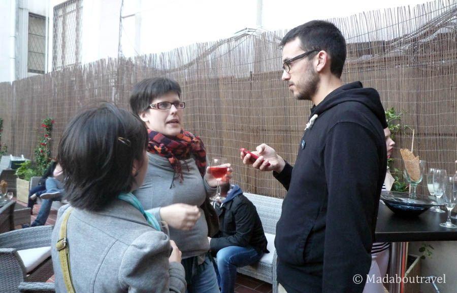 Charla entre bloggers en la Blog Night Out de Aspasios Apartments