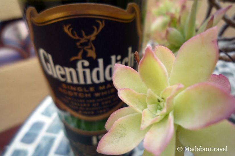 Botella de whisky de malta de 12 años Glenfiddich