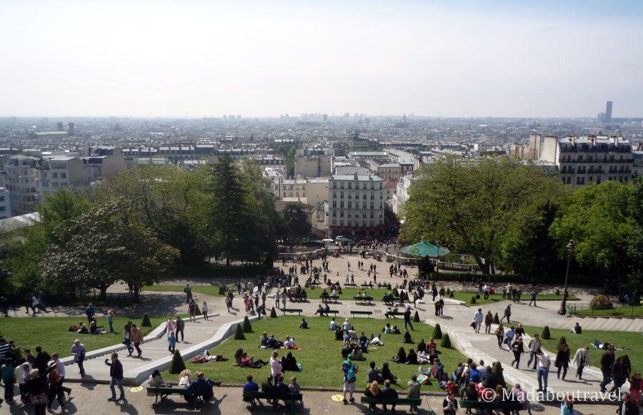 Vistas de París desde Montmartre