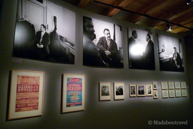 Exposición de Georges Brassens en el Chateau de Malbrouck