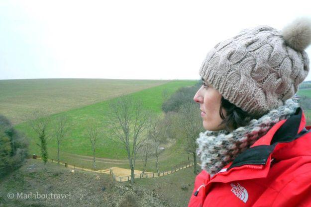 Contemplando el paisaje desde el Castillo de Malbrouck