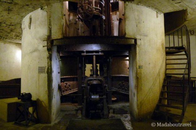 Estructura de uno de los cañones del fuerte de Douaumont