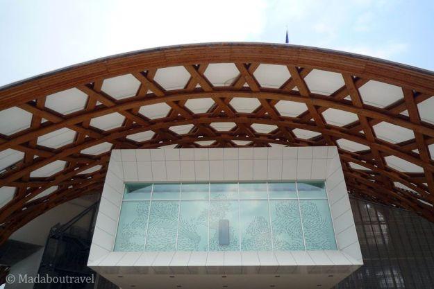 Gran ventanal del Pompidou de Metz