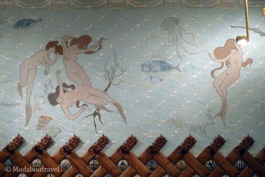 Pinturas de Ramon Casas en el Salón de las Sirenas