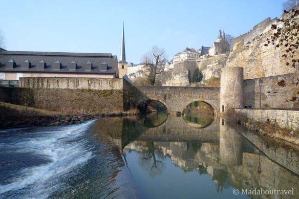 El río Alzette y el Muro de Wenceslao