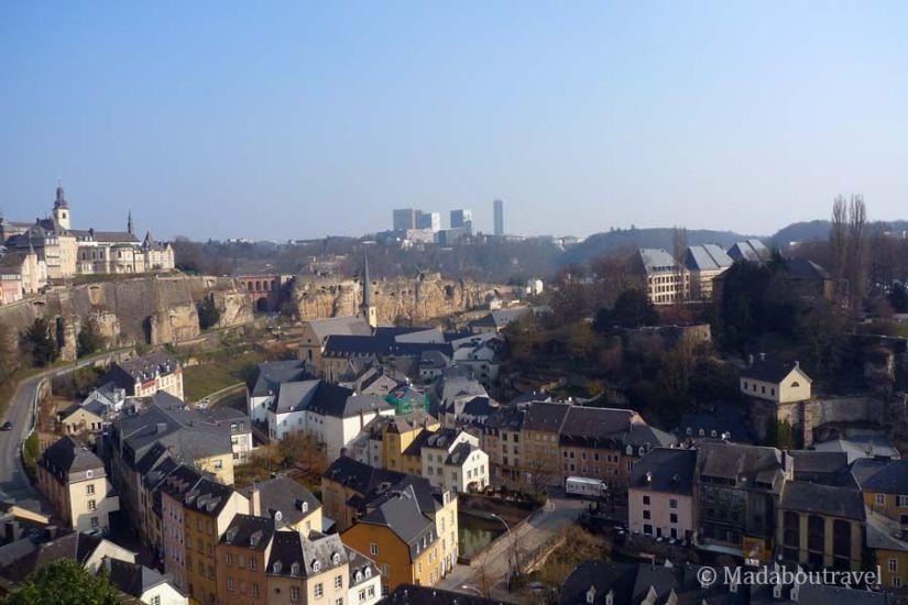 Vistas del Grund en Luxemburgo