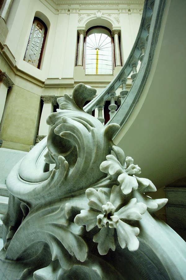 Detalle de la escalera de la Casa Garriga i Nogués