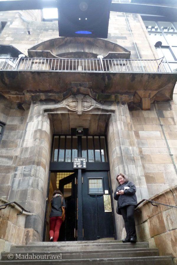 Entrada de la Escuela de Arte de Glasgow