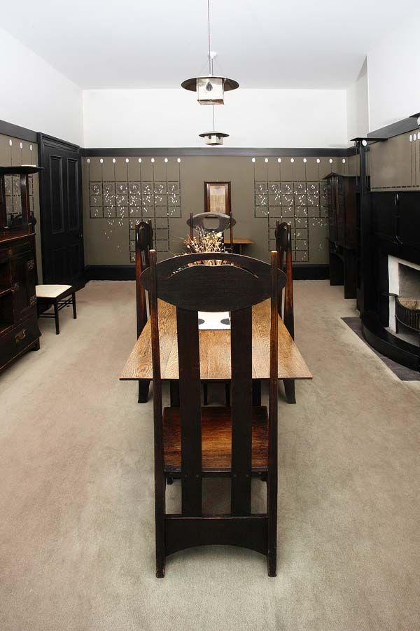 El comedor de la casa de Mackintosh © The Hunterian, University of Glasgow 2012