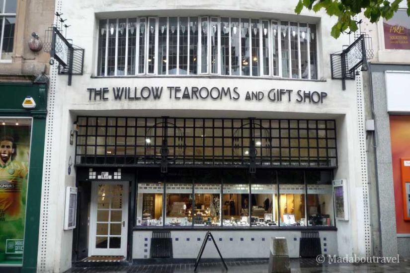 Fachada de the Willow Tea Rooms en Sauchiehall Street