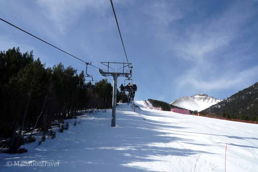 Telesilla estación de esquí de Espot
