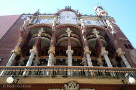 Otra vista de la preciosa fachada del Palau de la Música