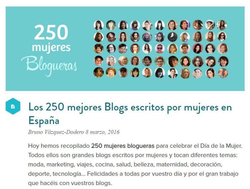 250 mejores blogs escritos por mujeres