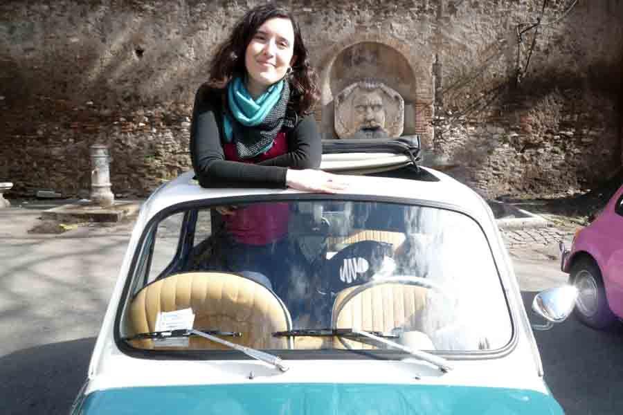 """A bordo de """"mi"""" Fiat 500 vintage"""
