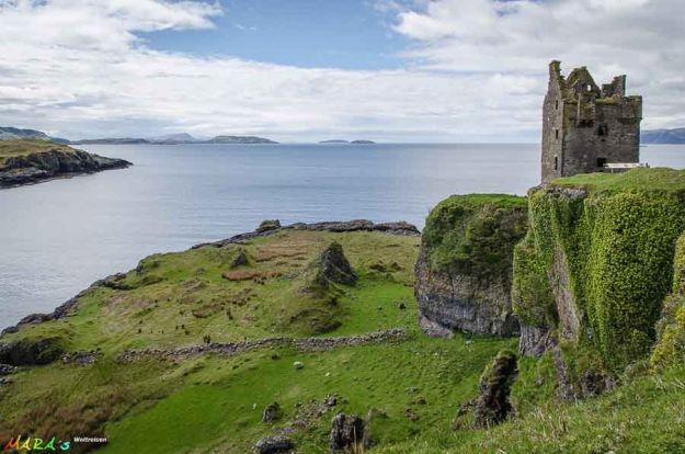 Gylen Castle en Kerrera. Foto de Martine Rammer www.marasweltreisen.de