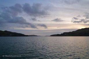 Puesta de sol desde el ferry