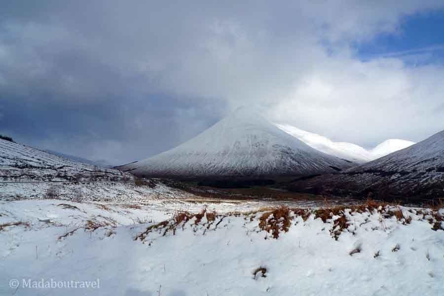 Highlands de Escocia nevadas