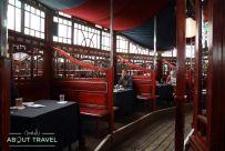 The Guardian Spiegeltent en el Festival Internacional del Libro de Edimburgo