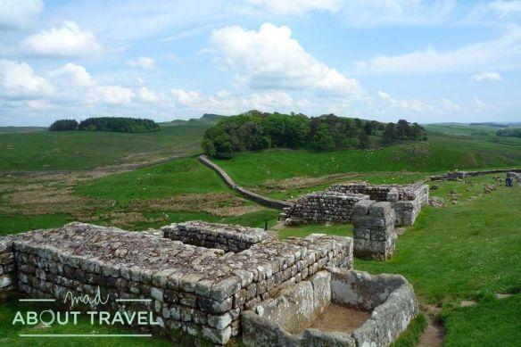 Muro del fuerte de Housesteads, pegado al Muro de Adriano
