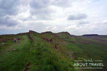 El muro de Adriano a su paso por Nortumbria