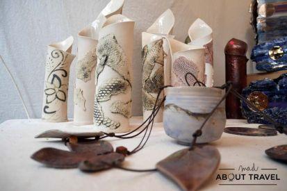 Cerámica de EC Ceramics en la Feria de Artesanos de Edimburgo