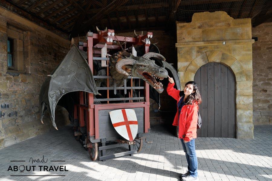 Knight's Quest en el castillo de Alnwick, Nortumbria, Inglaterra