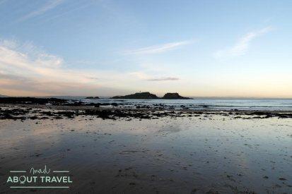 Playa de Yellowcraig en Dirleton, Escocia