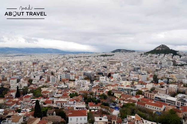 Vistas desde la Acrópolis de Atenas