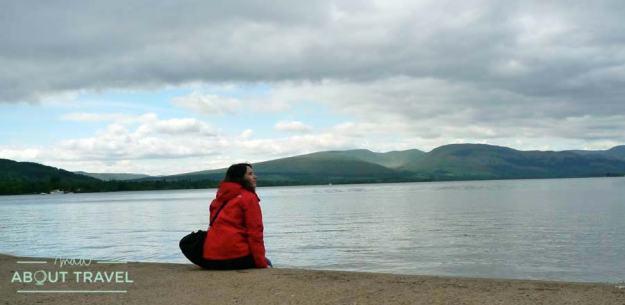 A orillas del Loch Lomond en Balloch, Escocia