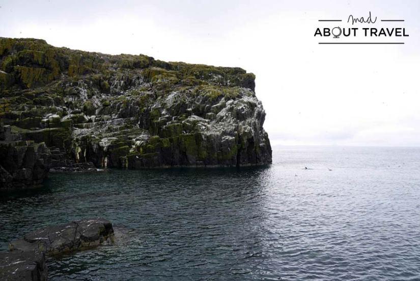 Acantilados de la Isla de May desde el puerto de Altarstanes