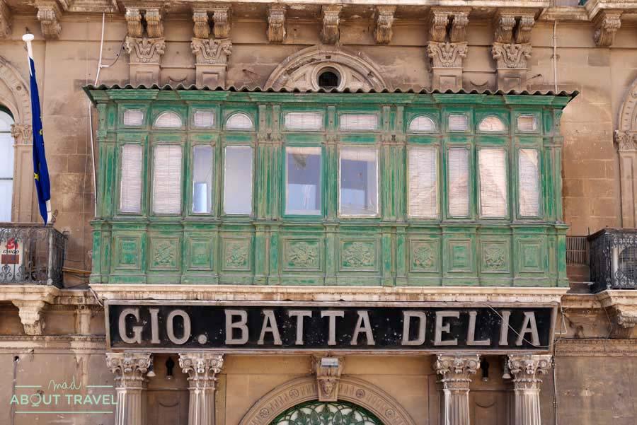 Balcones típicos de La Valletta