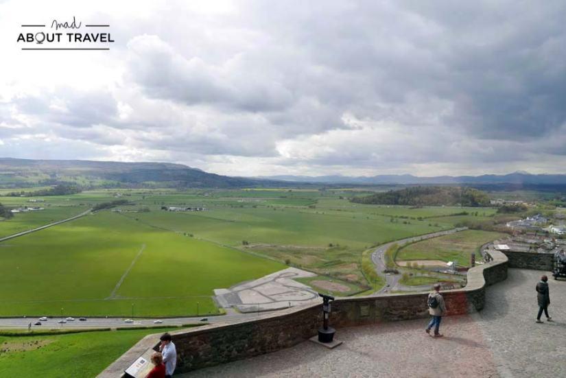 Paseo de la muralla castillo de Stirling