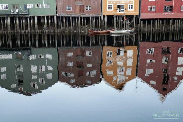 Almacenes de colores en Trondheim