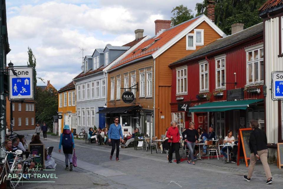 Barrio de Bakklandet en Trondheim