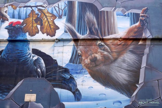 ruta de arte urbano de glasgow: mural fellow residents