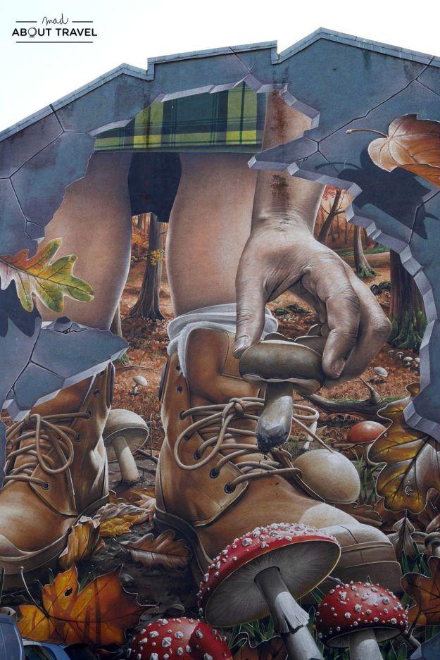 ruta de arte urbano de glasgow: mural fellow residents