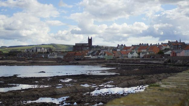 Vistas de Dunbar desde Cromwell Harbour. foto de Polonez