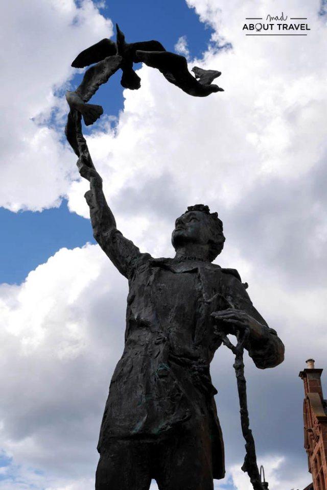 Estatua de John Muir en Dunbar