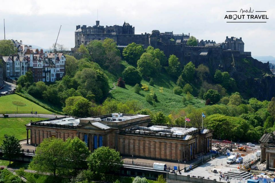 vistas desde el Scott Monument en Edimburgo