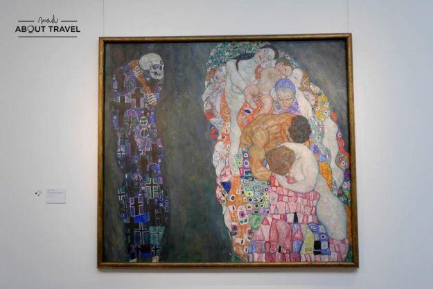 cuadro de Gustav Klimt en el Museo Leopold de Viena
