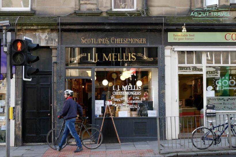tiendas en el barrio de Morningside, Edimburgo